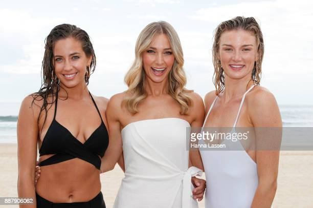 Jade Heiser Anna Heinrich and Amy Pejkovic pose at the Pantene Summer Showers Launch at Bondi Beach on December 8 2017 in Sydney Australia