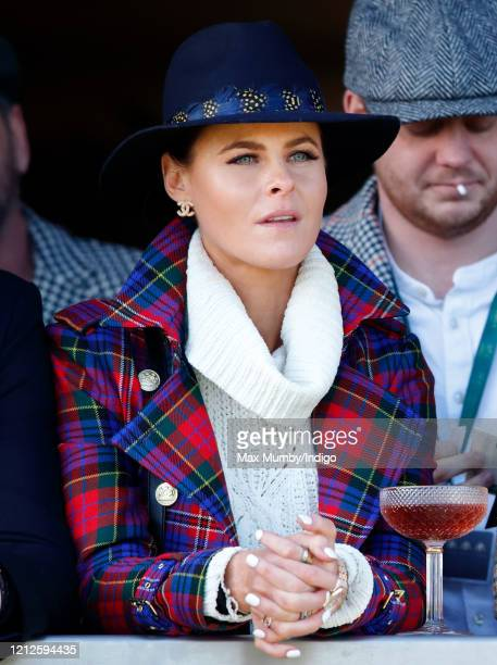Jade Holland Cooper attends day 4 'Gold Cup Day' of the Cheltenham Festival 2020 at Cheltenham Racecourse on March 13 2020 in Cheltenham England