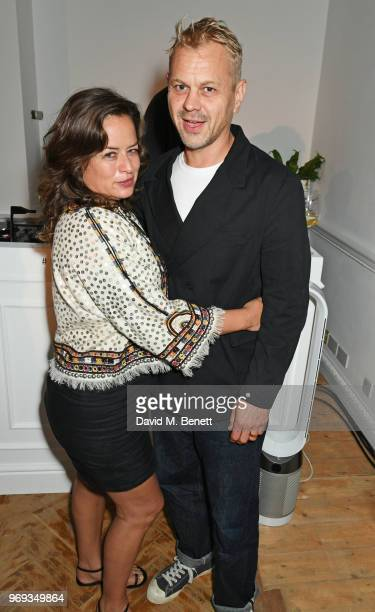 Jade Jagger and Adrian Fillary attend the Moet Summer House VIP launch night on June 7 2018 in London England