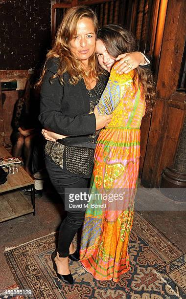Jade Jagger and Amba Jackson attend the Isabel Marant London dinner and party on December 5 2013 in London United Kingdom