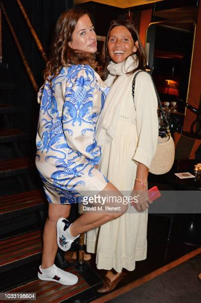 Jade Jagger and Countess Debonnaire von Bismarck attend the launch of Jade Jagger's new jewellery collection 'Madonna' during London Fashion Week...