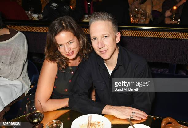 Jade Jagger and Jefferson Hack attend the Another Man Spring/Summer Issue launch dinner in association with Kronaby at Park Chinois on March 21 2017...
