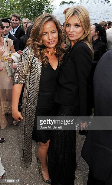 Jade Jagger and Kate Moss attend the annual Serpentine Gallery Summer Party cohosted by L'Wren Scott at The Serpentine Gallery on June 26 2013 in...