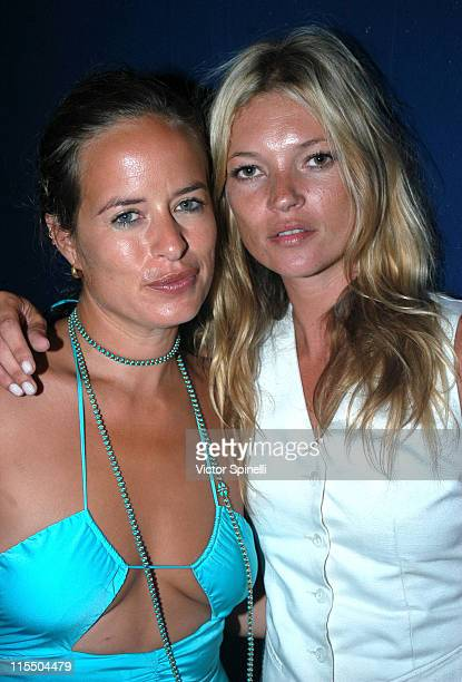Jade Jagger and Kate Moss during Manumission Ibiza Rocks featuring The Kaiser Chiefs at Privilege in Ibiza Spain
