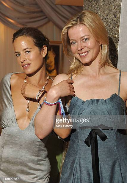 Jade Jagger and Lady Helen Taylor during An Evening at The Sanderson Inside at Sanderson Hotel in London Great Britain
