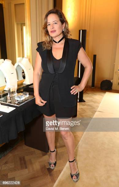 Jade Jagger attends a ladies lunch for Jade Jagger Fine Jewellery at Hotel Cafe Royal hosted by Jerry Hall Jade Jagger and supported by PerrierJouet...