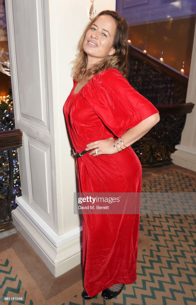 Jade Jagger attends Claridge's Christmas Tree Party 2017, designed by Karl Lagerfeld, on November 28, 2017 in London, United Kingdom.