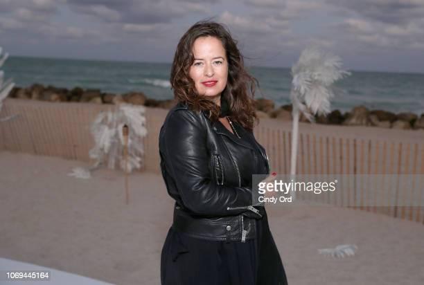 Jade Jagger attends L'Eden By PerrierJouët Beachfront Trunkshow with Jade Jagger Jewellery on December 6 2018 in Miami Beach Florida