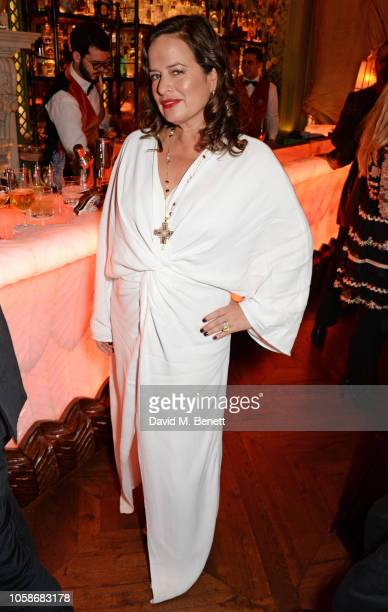 Jade Jagger attends the Annabel's Art Auction fundraiser in aid of Teenage Cancer Trust Teen Cancer America at Annabel's on November 7 2018 in London...