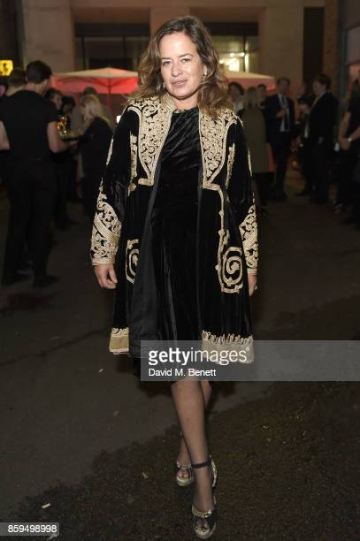 Jade Jagger attends the Conde Nast Traveller 20th anniversary party at Vogue House on October 9 2017 in London England