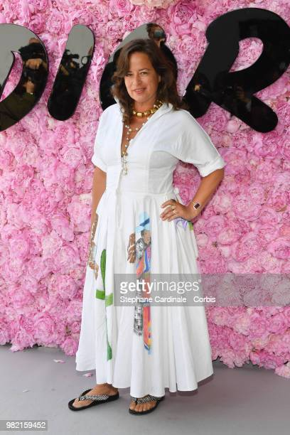 Jade Jagger attends the Dior Homme Menswear Spring/Summer 2019 show as part of Paris Fashion Week Week on June 23 2018 in Paris France