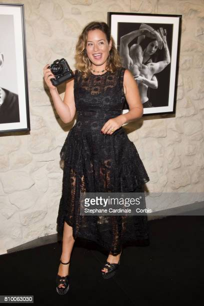 Jade Jagger attends the 'Don't Take it Personally' by Jade Jagger JeanBaptiste Pauchard Exhibition Party on July 6 2017 in Paris France