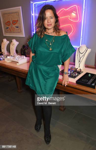 Jade Jagger attends the Jade Jagger Jewellery Christmas showcase on December 13 2017 in London England