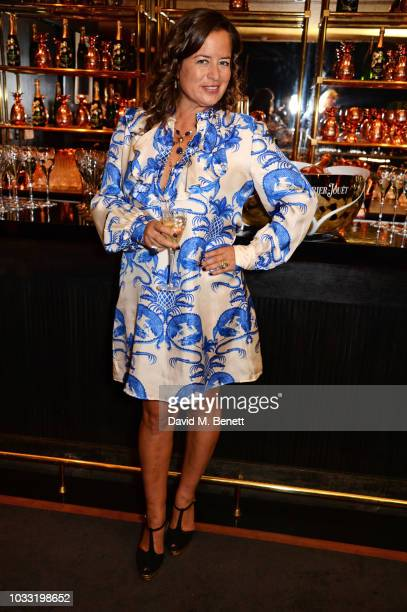 Jade Jagger attends the launch of her new jewellery collection 'Madonna' during London Fashion Week September 2018 at Blakes Hotel on September 14...