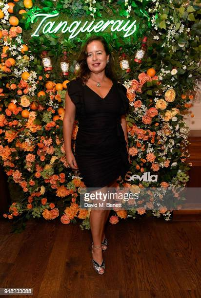 Jade Jagger attends the launch of new gin Tanqueray Flor de Sevilla in partnership with Jose Pizarro at Pizarro Restaurant on April 18 2018 in London...