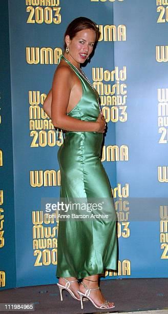 Jade Jagger during 2003 Monte Carlo World Music Awards Press Room at Monte Carlo Sporting Club in Monte Carlo Monaco