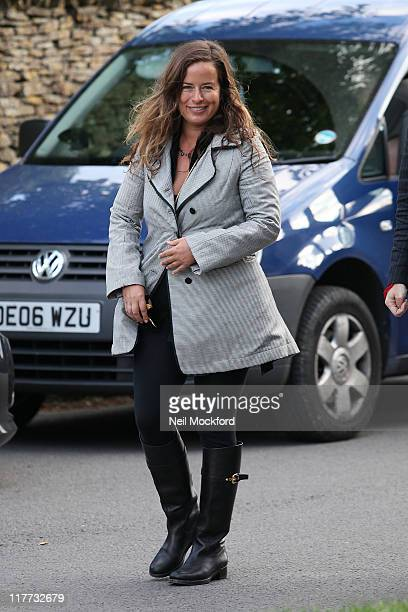 Jade Jagger sighted arriving at the pub on June 30 2011 in Southrop England