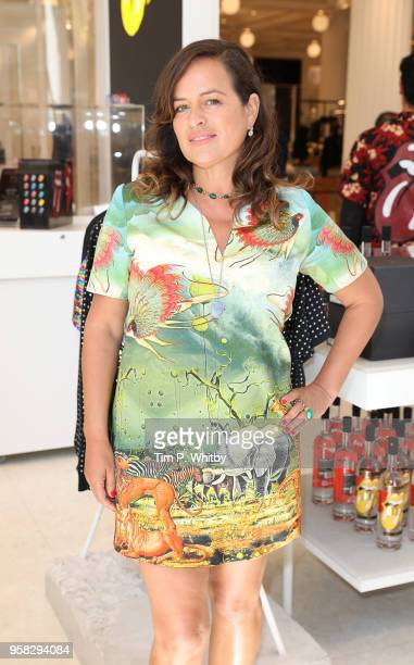 Jade Jagger visits a bespoke installation celebrating The Rolling Stones 'No Filter' UK tour in the Corner Shop at Selfridges on May 14 2018 in...