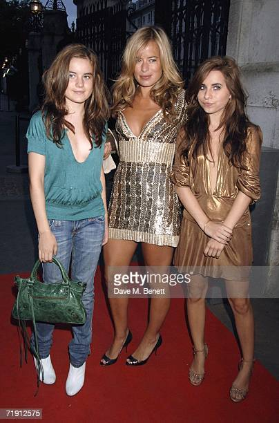 Jade Jagger with her daughters Amba and Assisi Jackson attend the Westfield launch party at the Natural History Museum on September 17 2006 in London...