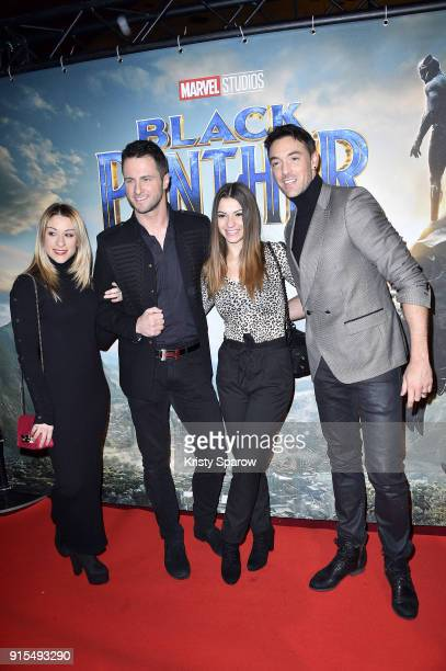 Jade Jerrop Christian Millette Denitsa Ikonomova and Maxime Dereymez attend the 'Black Panther' Paris Special Screening at Le Grand Rex on February 7...