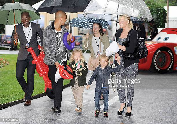 Jade Jones and Emma Bunton attend a pre-party celebrating the UK Premiere of CARS 2 at Whitehall Gardens on July 17, 2011 in London, England.
