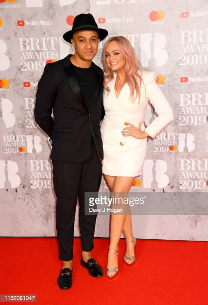 Jade Jones and Emma Bunton attend The BRIT Awards 2019 held at The O2 Arena on February 20, 2019 in London, England.