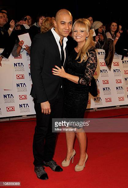 Jade Jones and Emma Bunton attend the The National Television Awards at the O2 Arena on January 26, 2011 in London, England.