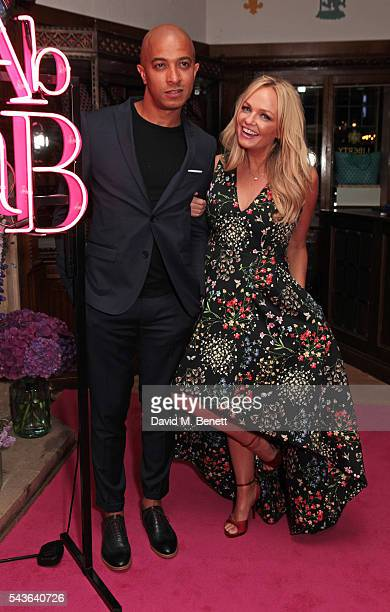 """Jade Jones and Emma Bunton attend the World Premiere after party of """"Absolutely Fabulous: The Movie"""" at Liberty on June 29, 2016 in London, England."""
