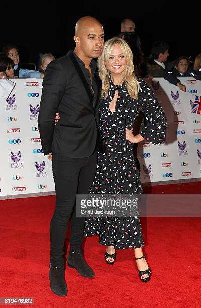 Jade Jones and Emma Bunton attends the Pride Of Britain awards at the Grosvenor House Hotel on October 31, 2016 in London, England.