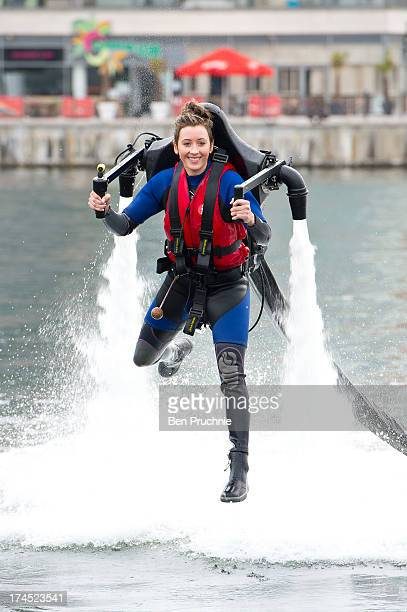 Jade Jones attends a photocall to launch the Virgin Active Health Clubs London Triathlon at ExCel on July 27 2013 in London England