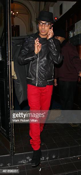 Jade Jones leaving Melanie Chisholm's Birthday concert on January 11, 2014 in London, England.