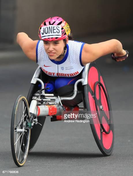 Jade Jones of Great Britain competes during the Virgin Money London Marathon on April 23 2017 in London England