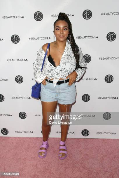 Jade Kendall attends the Beautycon Festival LA 2018 at the Los Angeles Convention Center on July 14 2018 in Los Angeles California