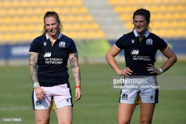 Jade Konkel of Scotland during the Scotland v Italy Rugby World Cup 2021 Europe Qualifying match at Stadio Sergio Lanfranchi on September 13, 2021 in...