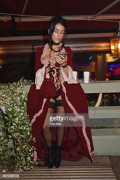 Jade Laroche attends the Marc Dorcel 35th Anniversary Masked Ball at the Chalet des Iles on October 10 2014 in Paris France