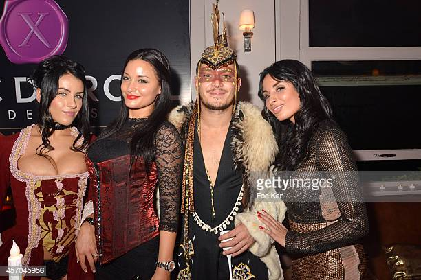 Jade Laroche Aurelien Wiik jessyca Wilson and Anissa Kate attend the Marc Dorcel 35th Anniversary Masked Ball at the Chalet des Iles on October 10...