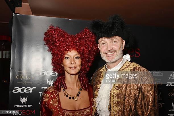 Jade Leboeuf and Franck Leboeuf attend the 'Bal des des Princesses 2016 Bal des Vampires' At Pavillon Champs Elysees In Paris on October 31 2016 in...