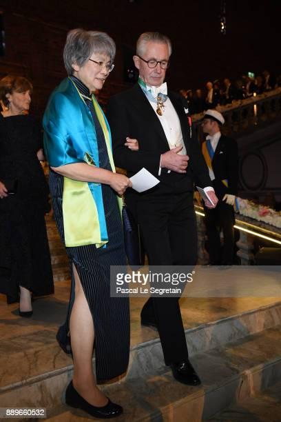 Jade Li and Tord Magnuson attend the Nobel Prize Banquet 2017 at City Hall on December 10 2017 in Stockholm Sweden