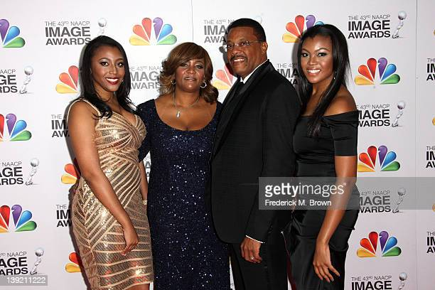 Jade Mathis Camara Mathis Greg Judge Mathis and Linda Mathis arrive at the 43rd NAACP Image Awards held at The Shrine Auditorium on February 17 2012...