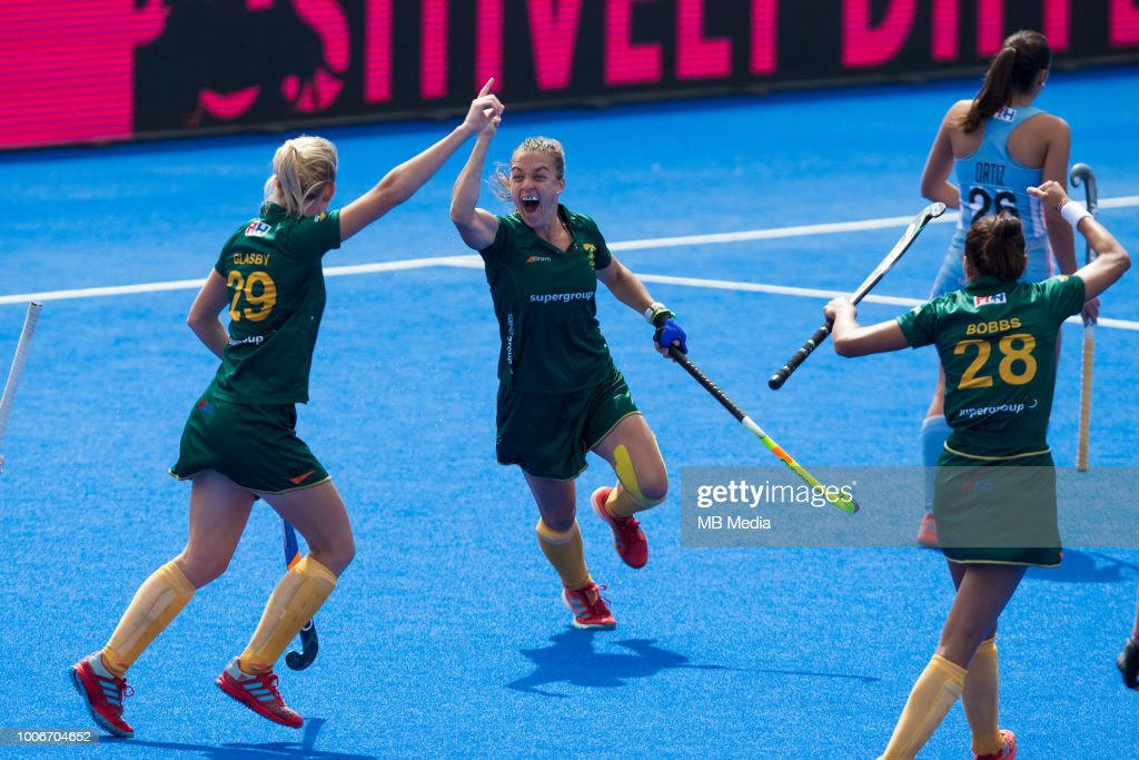 Argentina v South Africa - FIH Womens Hockey World Cup : Nieuwsfoto's