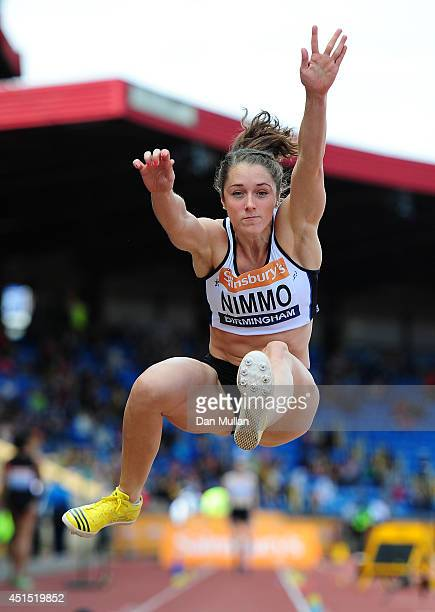Jade Nimmo competes in the Women's Long Jump Final during day three of the Sainsbury's British Championships at Birmingham Alexander Stadium on June...