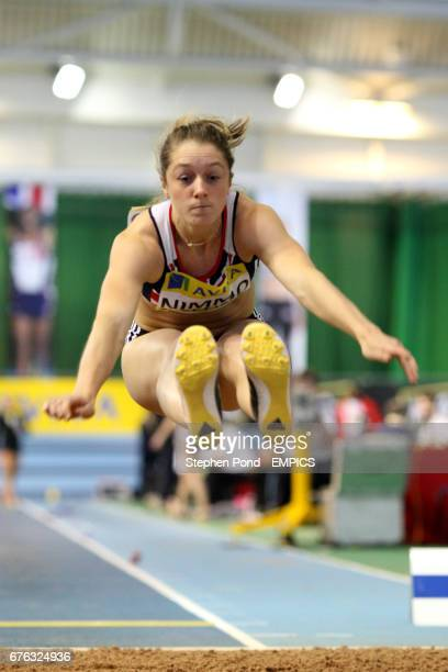 Jade Nimmo in action in the Long Jump