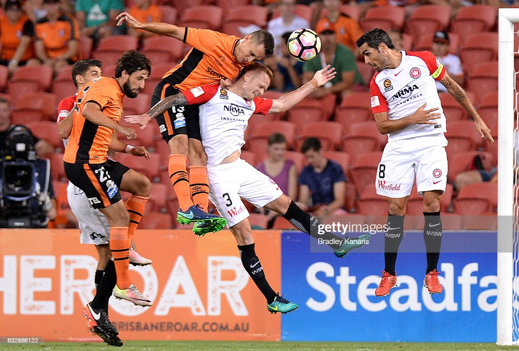 A-League Rd 17 - Brisbane v Western Sydney : News Photo