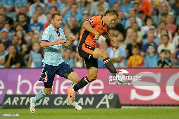 Jade North of the Roar in action during the round 12 ALeague match between Sydney FC and Brisbane Roar at Allianz Stadium on December 26 2013 in...
