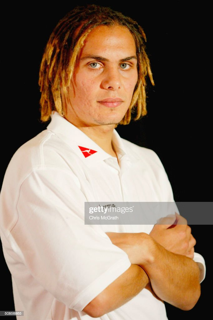 Jade North of the Socceroos poses for a portrait during the official welcoming ceremony for the Turkish soccer team held at the Sydney Opera House, May 20, 2004 in Sydney Australia.