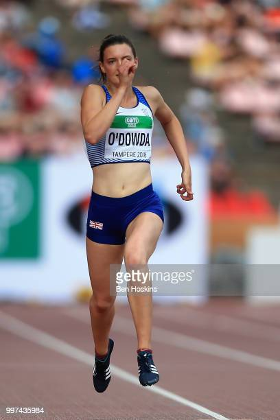 Jade O'Dowda of Great Britain in action during heat 2 of the women's heptathlon 200m on day three of The IAAF World U20 Championships on July 12 2018...