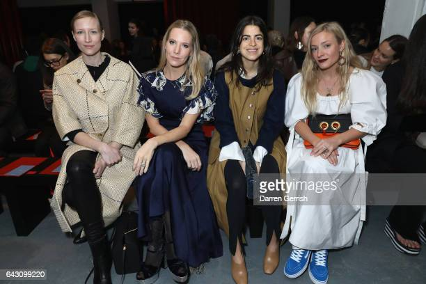Jade Parfitt Alice NaylorLeyland Leandra Medine and Kate Foley attend the Roksanda show during the London Fashion Week February 2017 collections on...