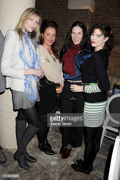 Jade Parfitt Alice Temperley Claire James and Jasmine Guinness attend a private dinner celebrating 'Alex James Presents' line of cheeses at Aubaine...