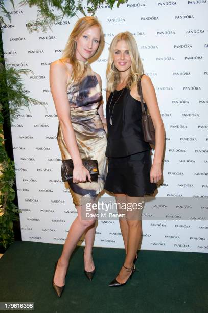 Jade Parfitt and Donna Air attend the Pandora Oxford Street store launch at Pandora Oxford Street on September 5 2013 in London England