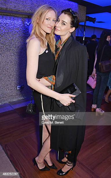 Jade Parfitt and Erin O'Connor attend an exclusive reception for 'The Fashion World of Jean Paul Gaultier From the Sidewalk to the Catwalk' showing...